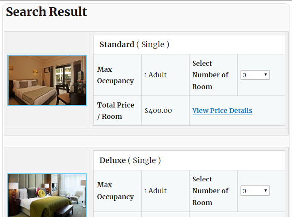 Online Hotel Booking System (WordPress Plugin)